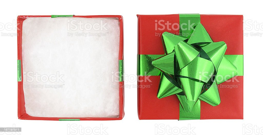 Christmas Gift Box (with clipping paths) stock photo