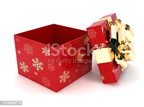 Christmas gift box present surprise open
