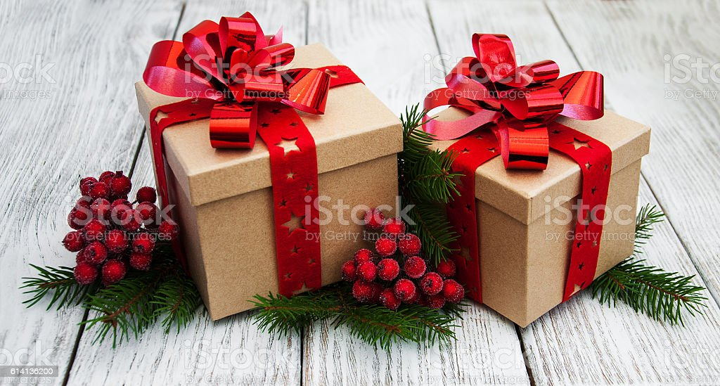 Christmas Gift Box Decorations Alluring Christmas Gift Boxes And Decorations Stock Photo & More Pictures Inspiration