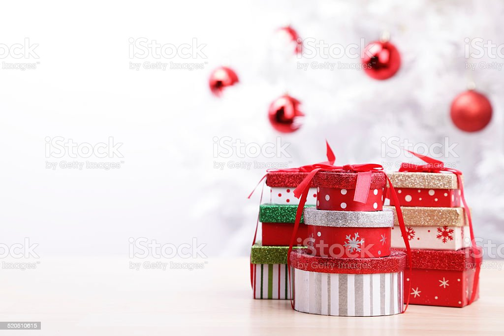 Christmas Gift Boxes royalty-free stock photo