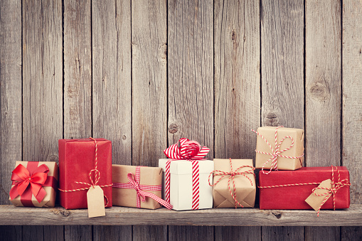 Christmas Gift Boxes Stock Photo - Download Image Now
