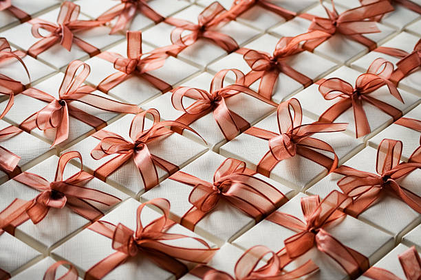 Scatole regalo di Natale - foto stock