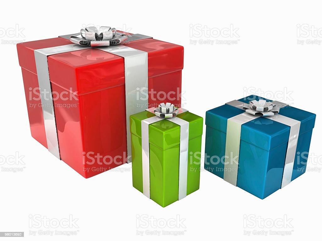 Caixas de presente de natal foto royalty-free