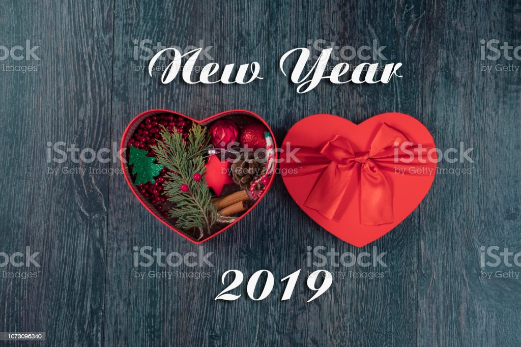 Christmas Gift Boxess On Background With New Year Wishes 2019 Stock Photo Download Image Now Istock