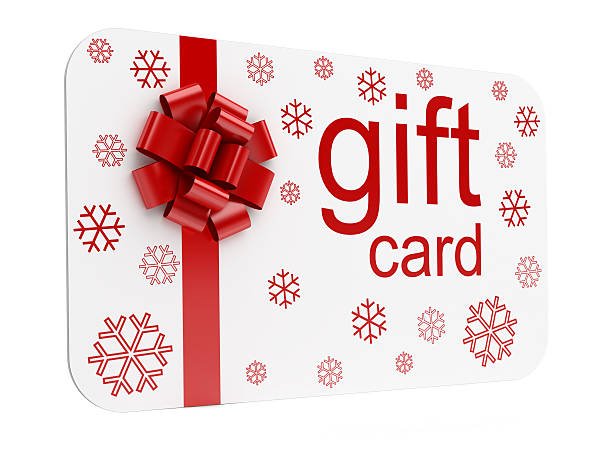 christmas gift card - gift voucher or card stock photos and pictures