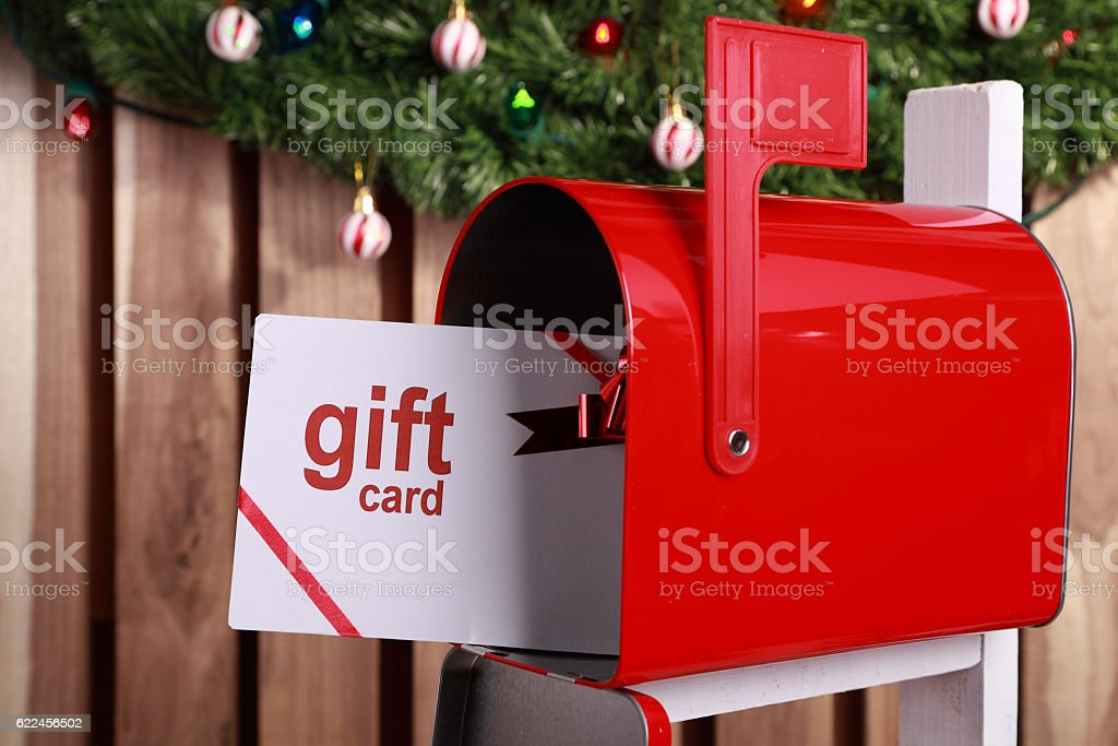Christmas Gift Card stock photo