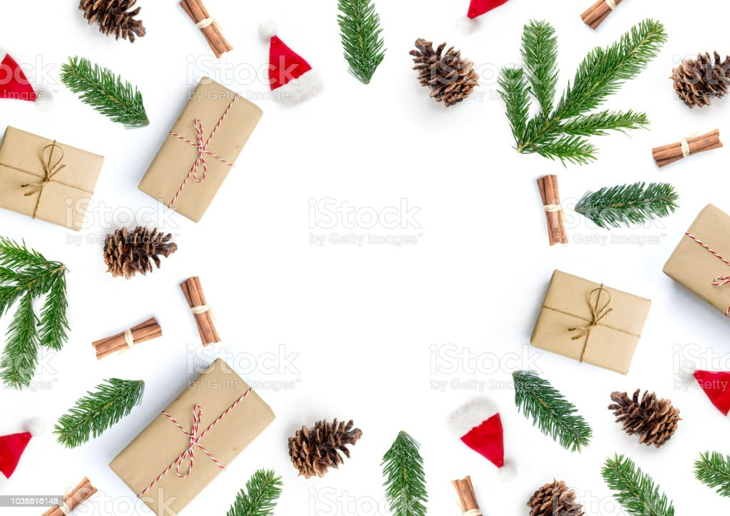 Christmas Gift Composition Background stock photo