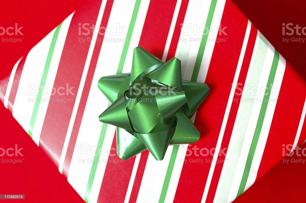 Christmas Gift on Red Background royalty-free stock photo