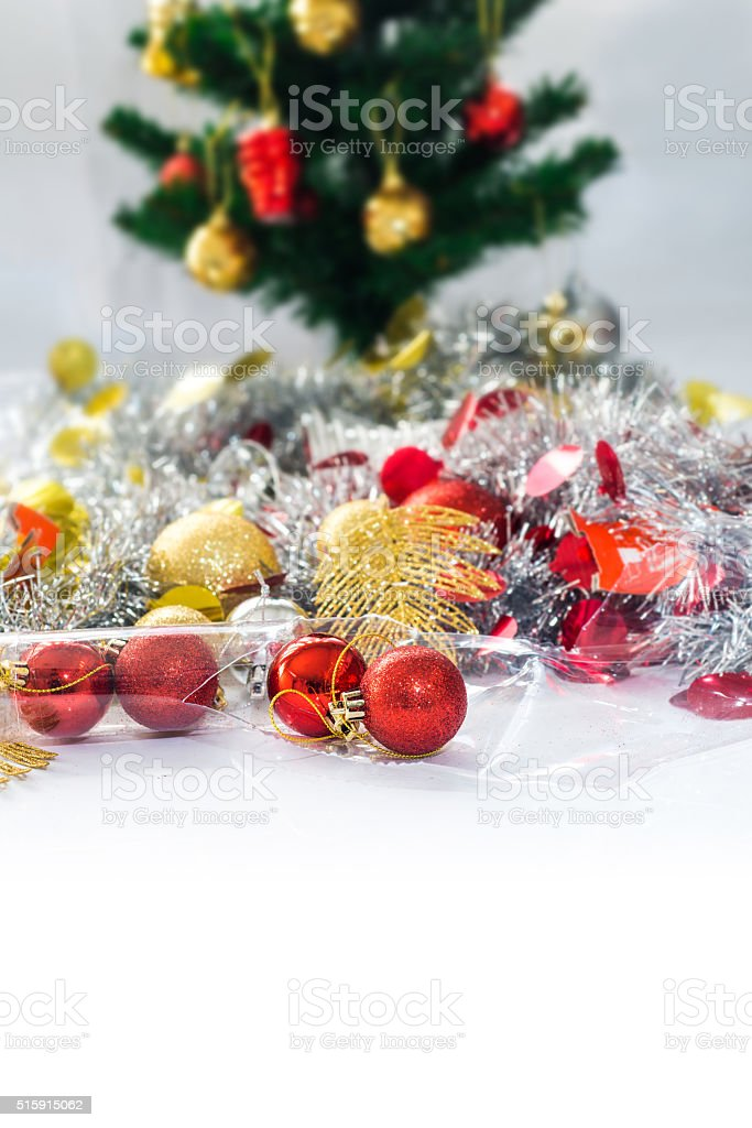 christmas gift on white background stock photo
