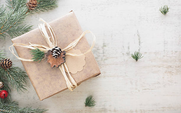 christmas gift - wrapping paper stock photos and pictures