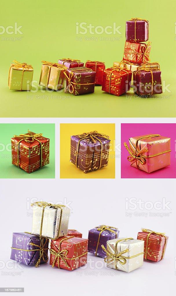 Christmas Gift Set royalty-free stock photo