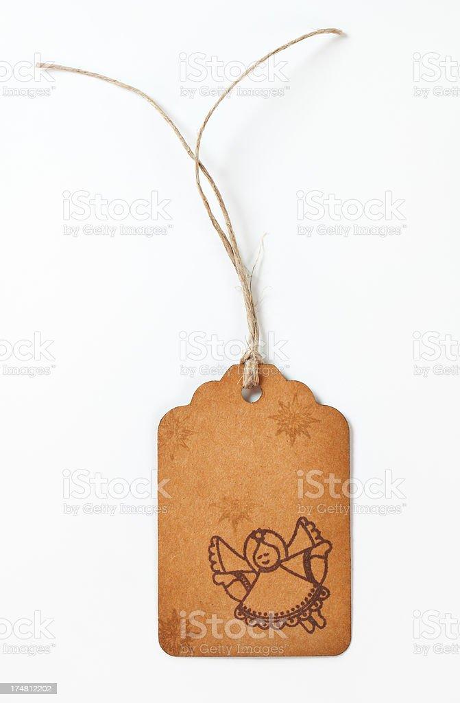 christmas gift tag royalty-free stock photo