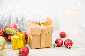 istock Christmas Gift With Ornaments 1072535418