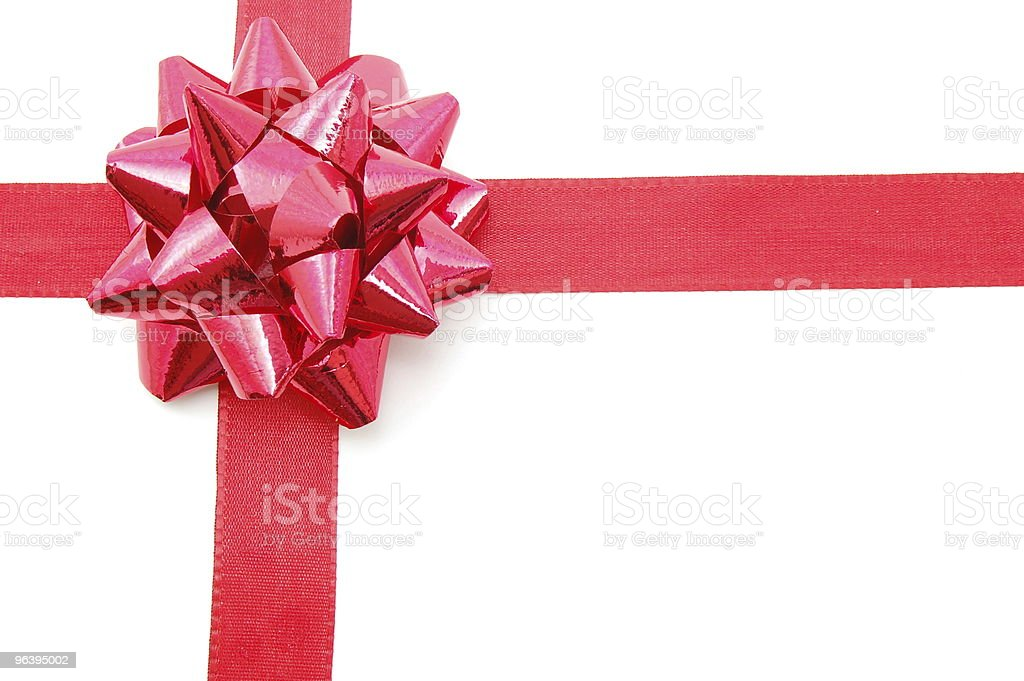 Christmas Gift with ribbon - Royalty-free Blank Stock Photo