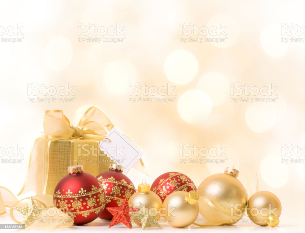 Christmas Gift with Tag royalty-free stock photo