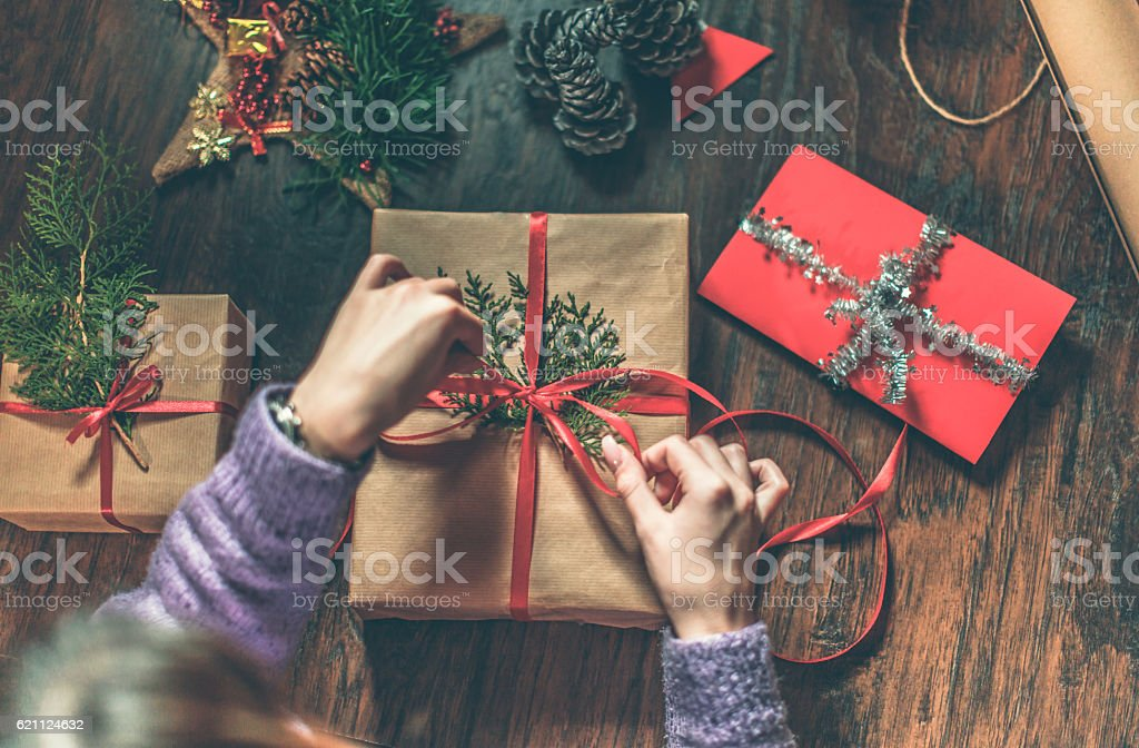 Christmas gifts are ready stock photo
