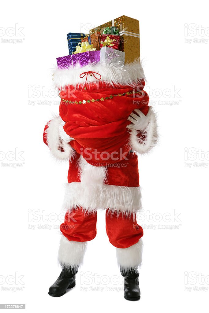 Christmas gifts from Santa royalty-free stock photo