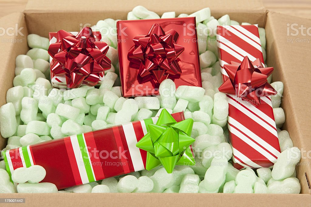 Scatole Per Regali Di Natale.Regali Di Natale In Scatola Di Cartone E Imballaggio Di Noccioline