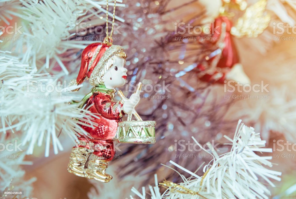 Christmas Evening Party.Christmas Gifts Preparing For Evening Party Stock Photo