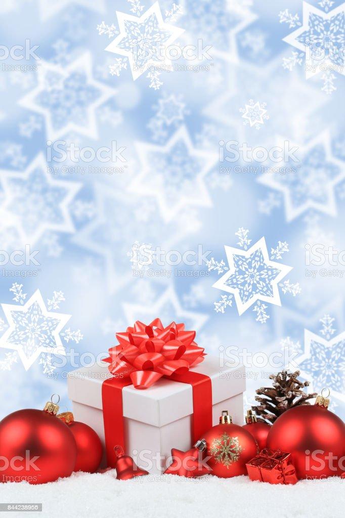 Christmas Gifts Presents Balls Decoration Stars Snow