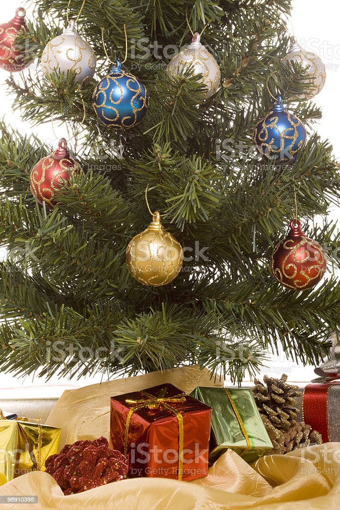 Christmas gifts under tree royalty-free stock photo