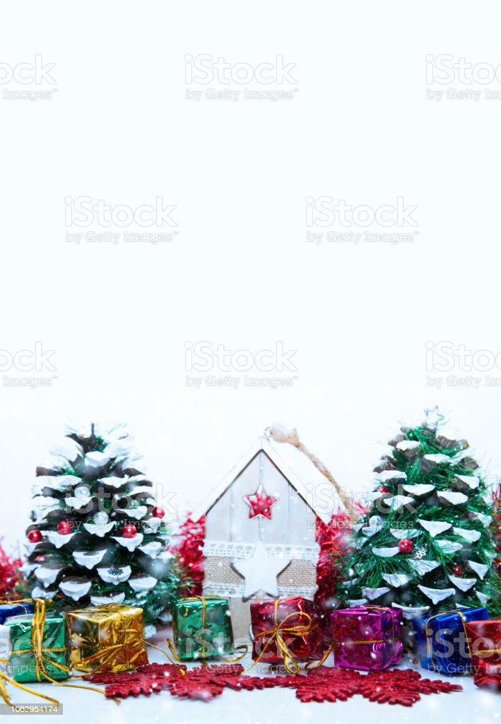 Noel hediyeleri kopya alanı ile stok fotoğrafı