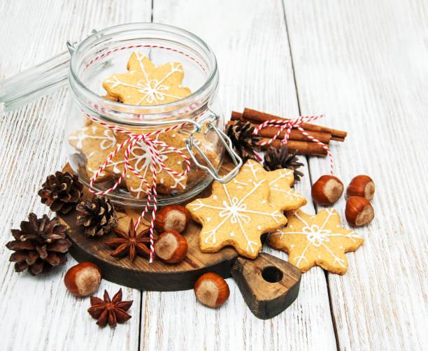 weihnachten lebkuchen cookies - ingwermarmelade stock-fotos und bilder
