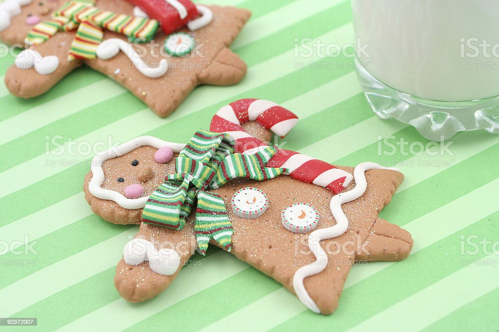 christmas gingerbread cookies royalty-free stock photo