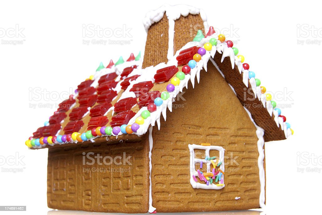 Christmas Gingerbread House - Isolated stock photo