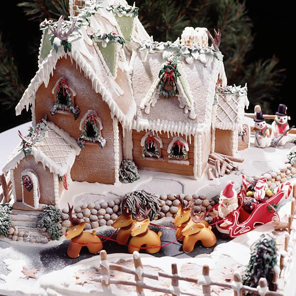 Weihnachten Lebkuchenhaus – Foto