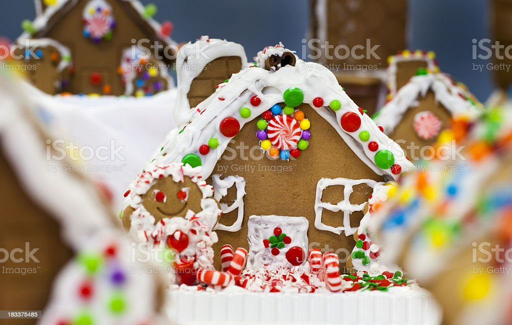 Christmas Gingerbread House stock photo