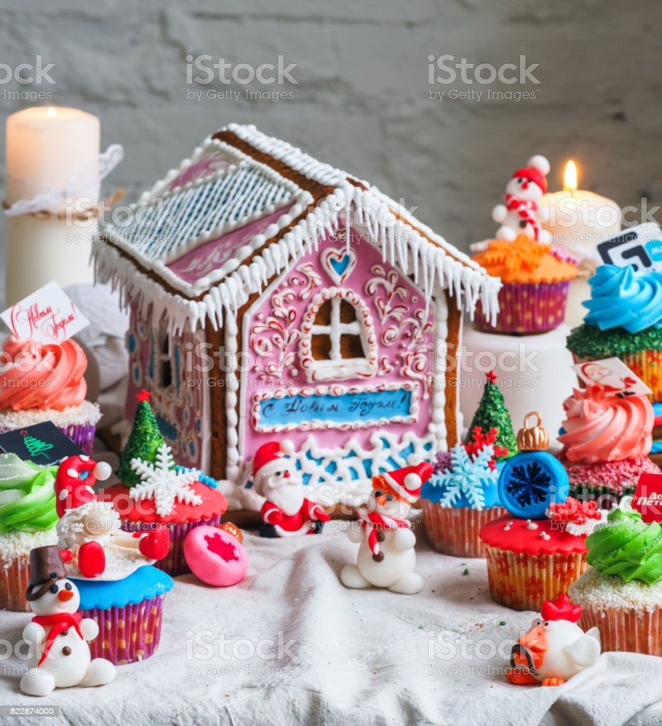 Christmas Gingerbread House.Christmas Gingerbread House Stock Photo More Pictures Of Baked
