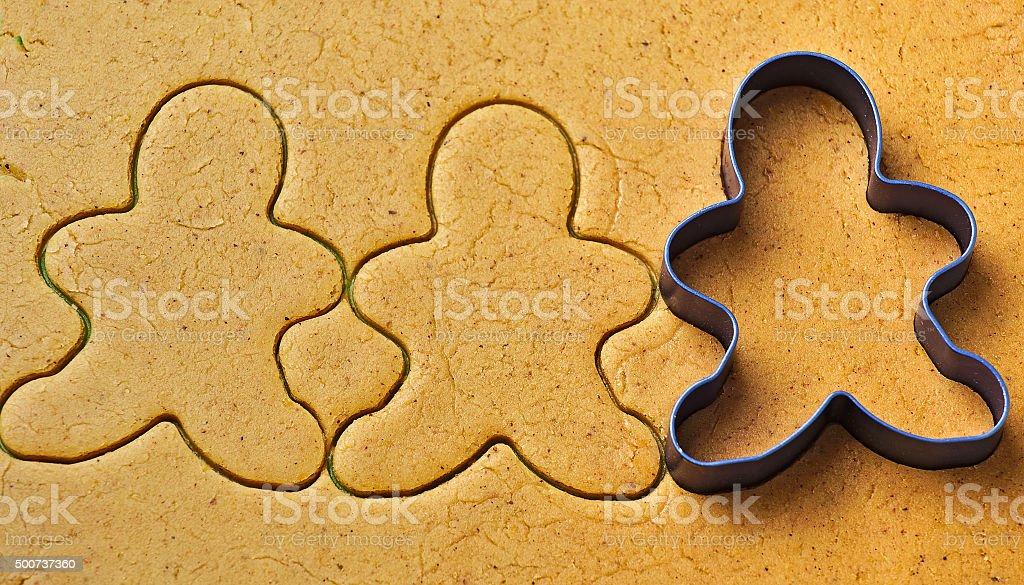 Christmas gingerbread men cookies stock photo