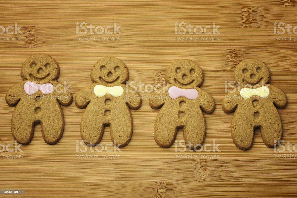 Christmas gingerbread men royalty-free stock photo