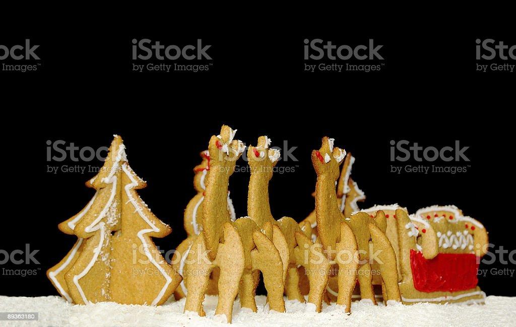 Ensemble de pain d'épice de Noël 2 photo libre de droits