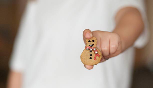 Christmas gingerbread snowman stock photo