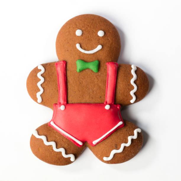 weihnachten lebkuchen cookie isoliert - schal mit sternen stock-fotos und bilder