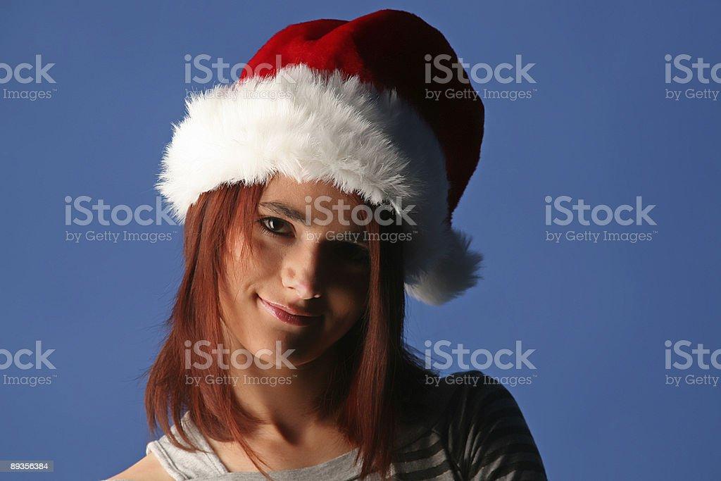 Ragazza di Natale foto stock royalty-free