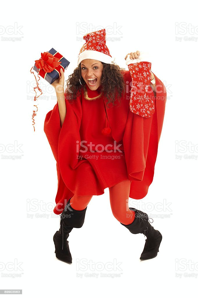 Christmas girl royalty-free stock photo
