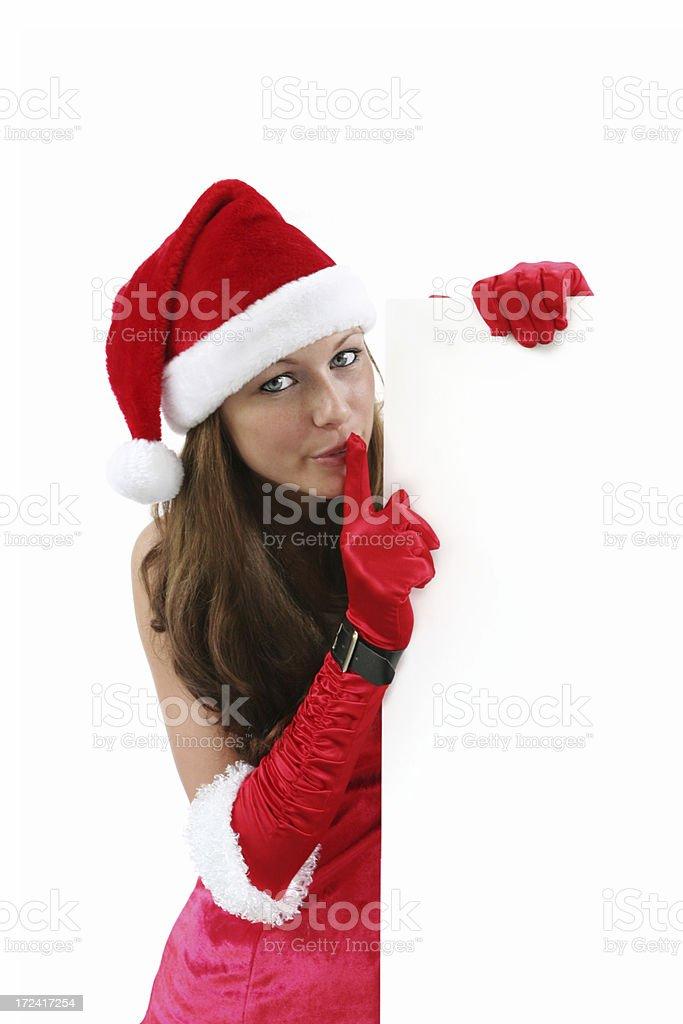 Christmas girl secret royalty-free stock photo