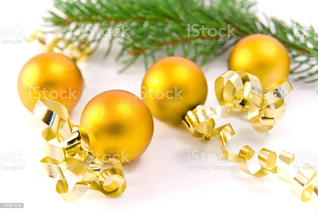 christmas glass balls royalty-free stock photo