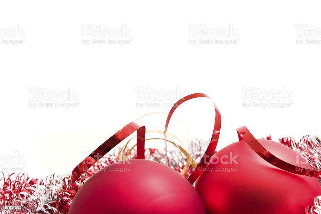 christmas glass balls with ribbon royalty-free stock photo