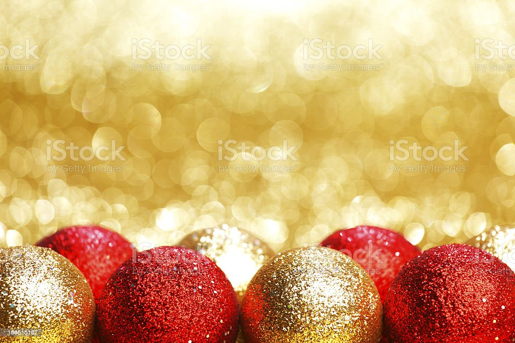 Christmas glass baubles royalty-free stock photo