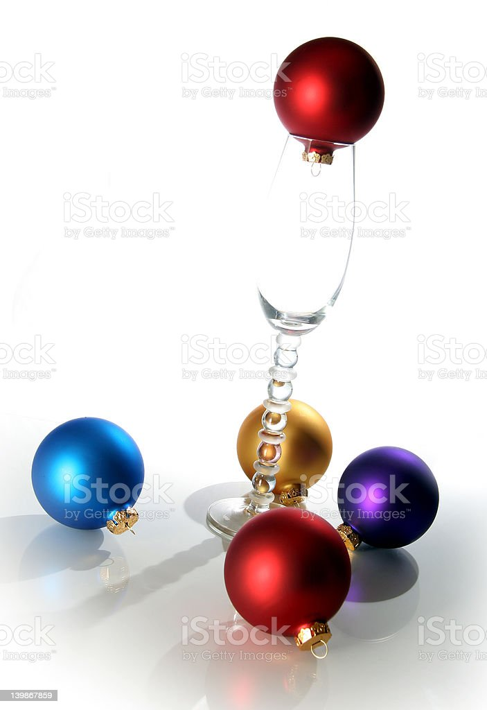 Christmas Glass royalty-free stock photo
