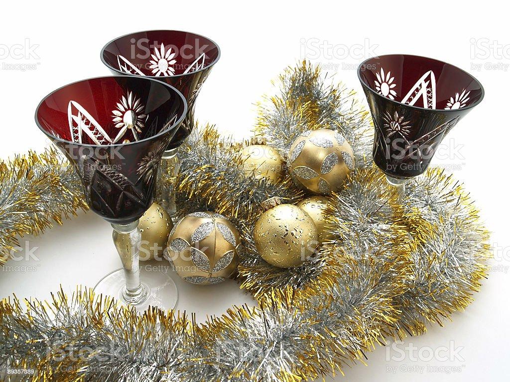 Christmas Globusy i napój okulary zbiór zdjęć royalty-free