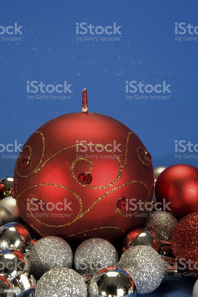 Christmas globes royalty-free stock photo