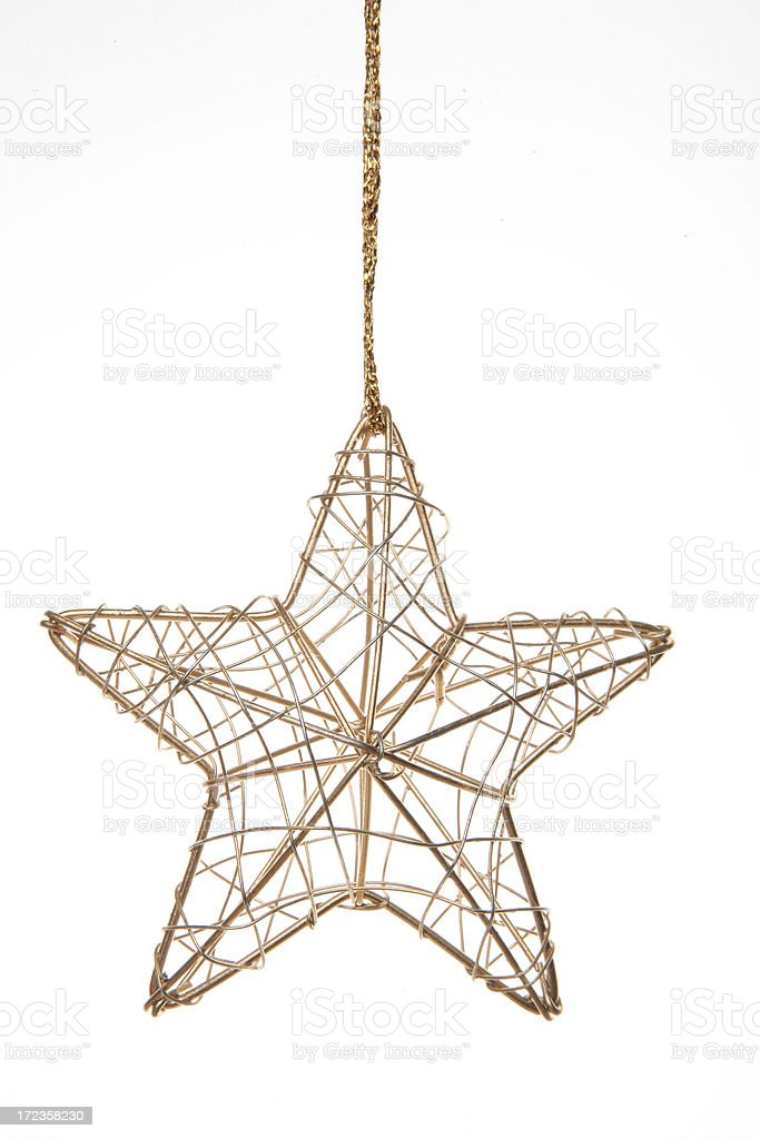 christmas gold bauble stock photo