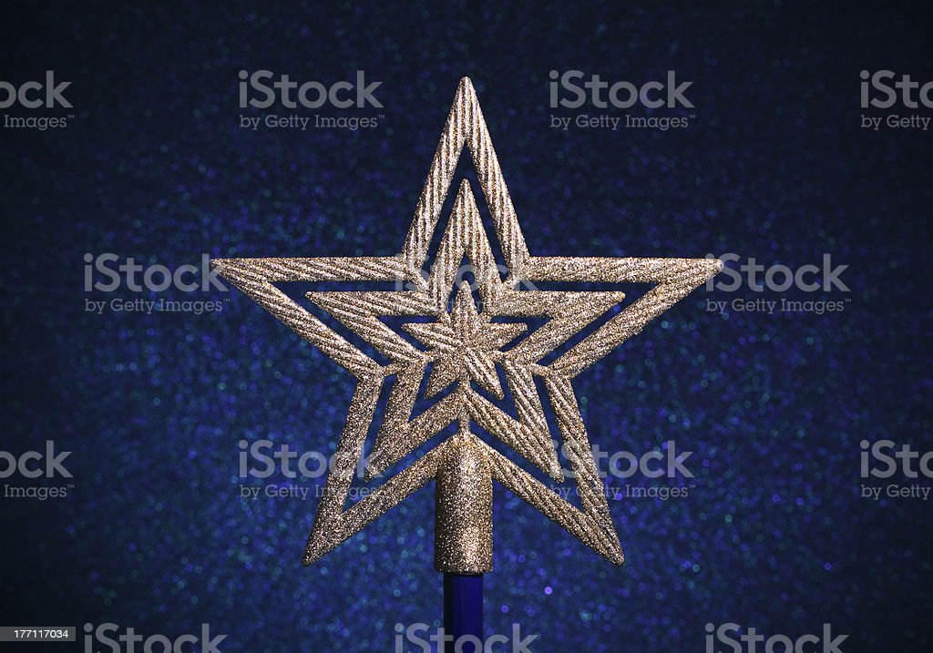 Christmas gold star royalty-free stock photo