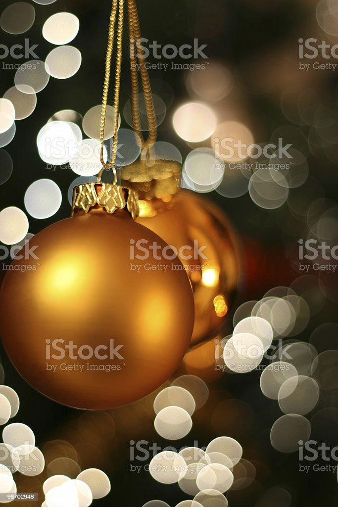 Christmas golden ball royalty-free stock photo