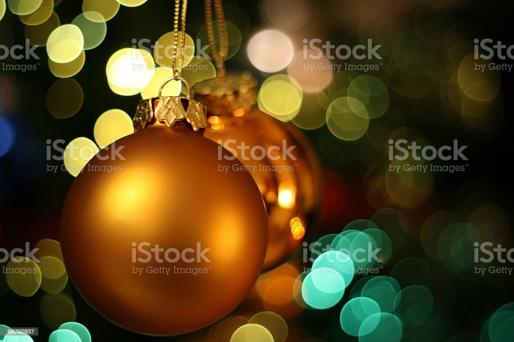 Christmas golden bauble royalty-free stock photo